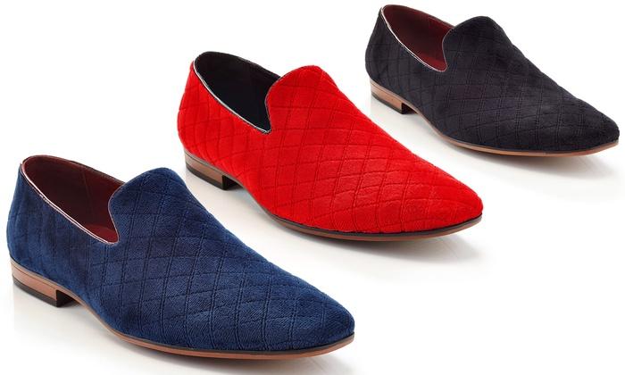 Men's Velour Smoking Shoes