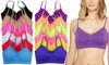 Women's Lace-Trim Padded Wirefree Bralette (6-Pack)