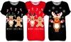 Dames t-shirt met kerstmotief