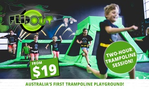 Flip Out: Two-Hour Trampoline Session for 1 ($19), 2 ($36), 4 ($64) or 6 People ($90) at Flip Out, 6 Locations (Up to $162 Value)