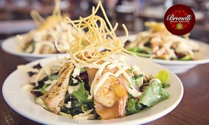 Cafe Brunelli - Glynde: Three-Course Lunch or Dinner + Wine for Two ($39) or Four People ($75) at Cafe Brunelli - Glynde (Up to $226.40 Value)