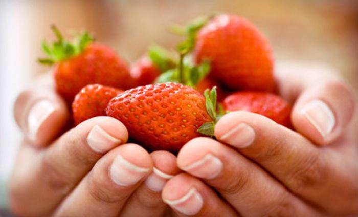 Van haperen aardbeien