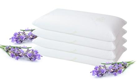 Pack de 2 o 4 almohadas Visco Copos con tratamiento de flor de lavanda