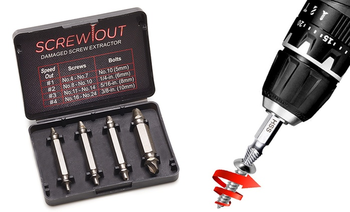 Damaged Screw Extractor Set from £7