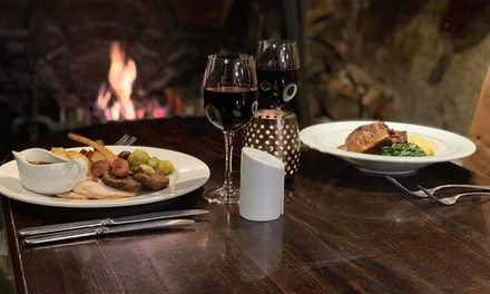 Two-Course Meal with Optional Wine for Up to Four at Tudors Restaurant at The White Hart Hotel (Up to 49% Off)
