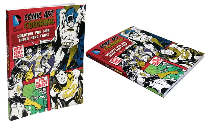Dc Comics Super Hero Coloring Or Groupon Goods