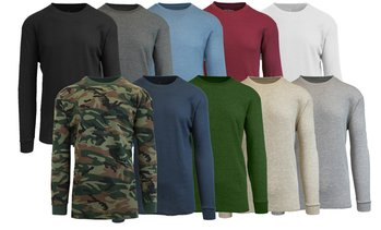 Men's Waffle Knit Thermal Shirt Set (4-Pack)