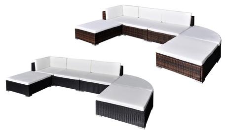 Conjunto de sofás para el jardín compuesto por 16 piezas