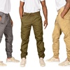 Men's Twill Joggers with Belt (2-Pack)