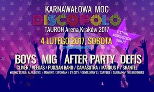 Karnawałowa Moc Disco Polo: Od 89,99 zł: bilety na Karnawałową Moc Disco Polo w Tauron Arenie (do -46%)