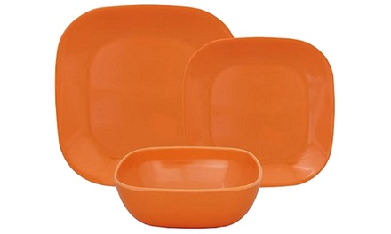 12-Piece Square Melamine Dinnerware Set