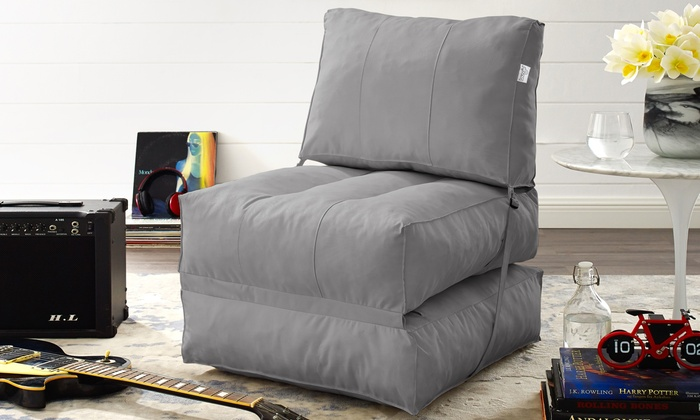 Fabulous Up To 15 Off On Memory Foam Foldable Bean Bag Groupon Goods Machost Co Dining Chair Design Ideas Machostcouk