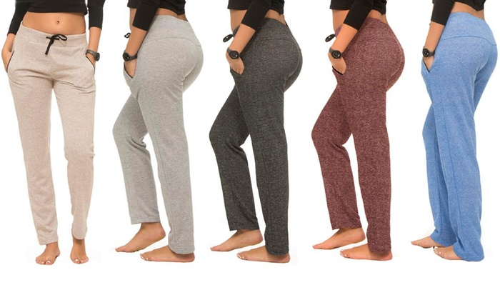 Coco Limon Women's Solid Joggers with Pockets
