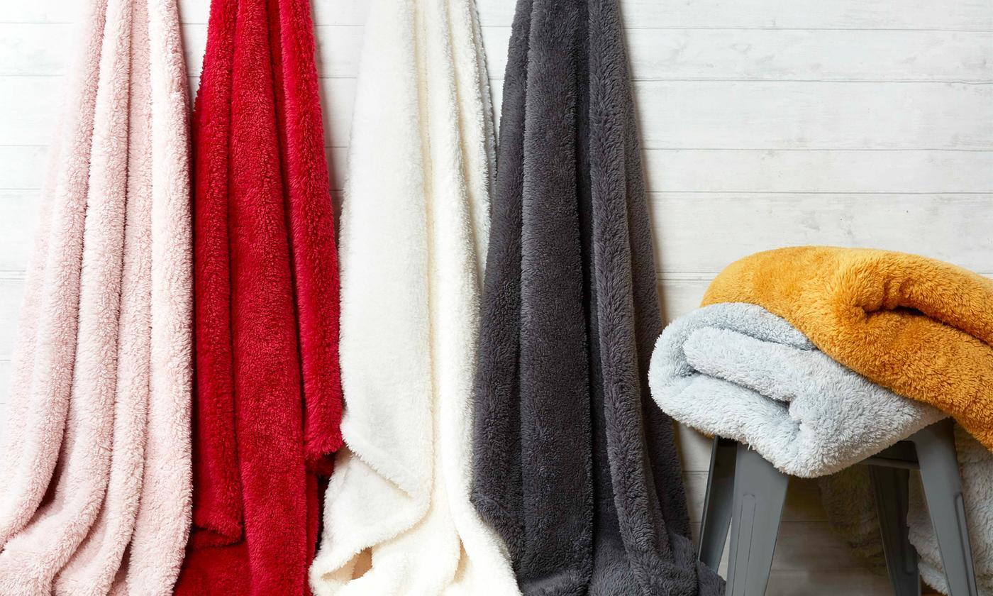 Rapport Home Teddy Bear Plush Fleece Throw for £7