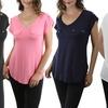 Women's V-Neck Double Faux Pocket Top