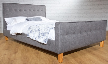 Verona Fabric Upholstered Bed from £119.99 with Mattress from £189.98 With Free Delivery