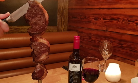 AllYouCanEat Brazilian Rodízio with Wine for One or Two at Copacabana