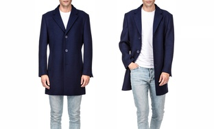 Braveman Men's Single or Double Breasted Wool Blend Coats