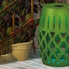 Color-Changing Solar LED Metal Outdoor Table/Stool