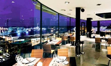 Menú para 2 o 4 con entrantes, principal, postre, botella de vino o bebida desde 59 € en Miramar Restaurant