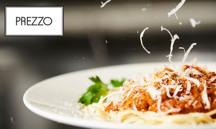 Up to £80 to Spend on Italian Cuisine and Drinks at Prezzo, Multiple Locations (Up to 38% Off)
