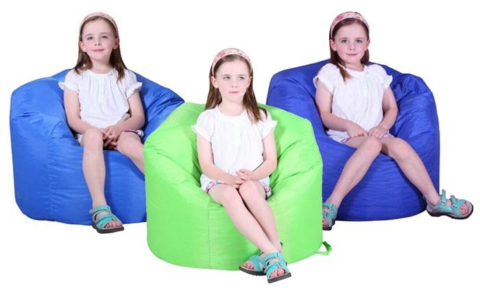 Kids' Round Beanbag Cushion Chair