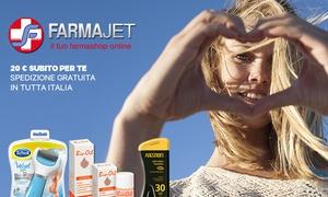 FarmaJET: Buono sconto del valore di 20€ per tutti i prodotti disponibili sulla farmacia Online Farmajet