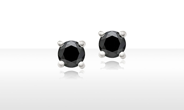 Black Diamond Stud Earrings: Black Diamond Stud Earrings