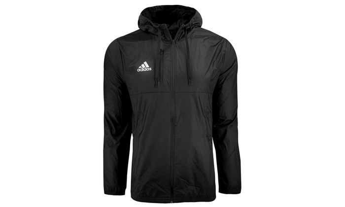 Adidas Men's Essentials Hooded Wind Jacket (S 2XL) | Groupon