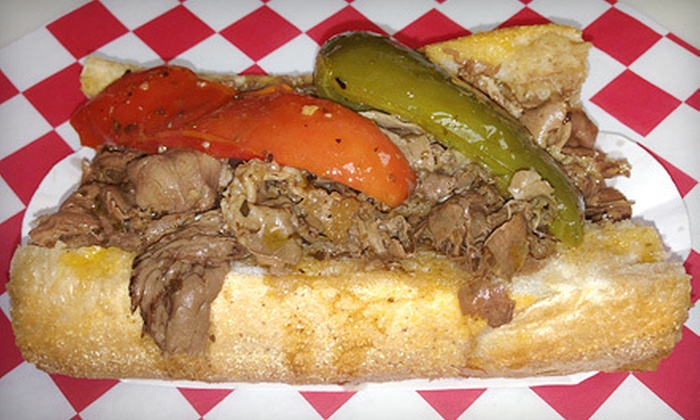 Teddy's Red Hots - Multiple Locations: Hot Dogs, Italian Beef, and American Food at Teddy's Red Hots (Half Off). Two Options Available.