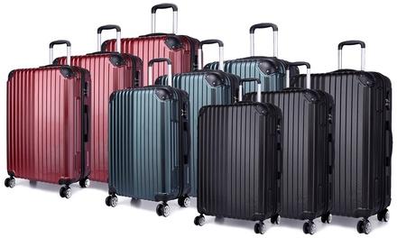 Kono HardShell ThreePiece Suitcase Set in Choice of Colour