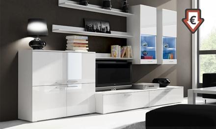 Mobili da soggiorno componibili con luci LED disponibili in vari ...