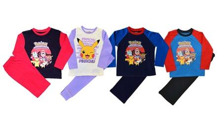 Kids TwoPiece Pokemon Pyjama Set for £4.99