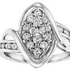 3/4 CTTW Diamond Engagement Ring
