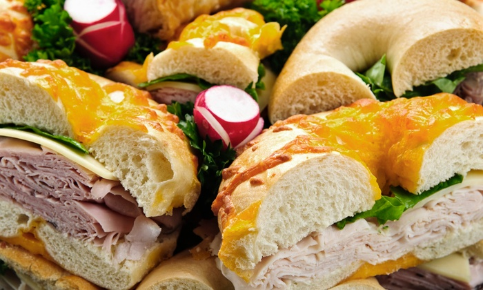 St. Paul Bagelry & Deli - Roseville: Two Bagel Sandwiches with Two Drinks, or $25 for $50 Worth of Catering at St. Paul Bagelry & Deli