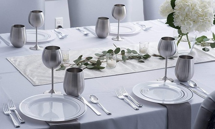 Two ($19), Four ($29) or Six ($39) Stainless Steel Wine Glasses