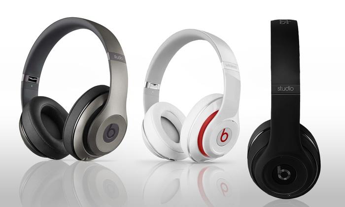 beats by dre studio wireless 2 0 bluetooth headphones groupon. Black Bedroom Furniture Sets. Home Design Ideas