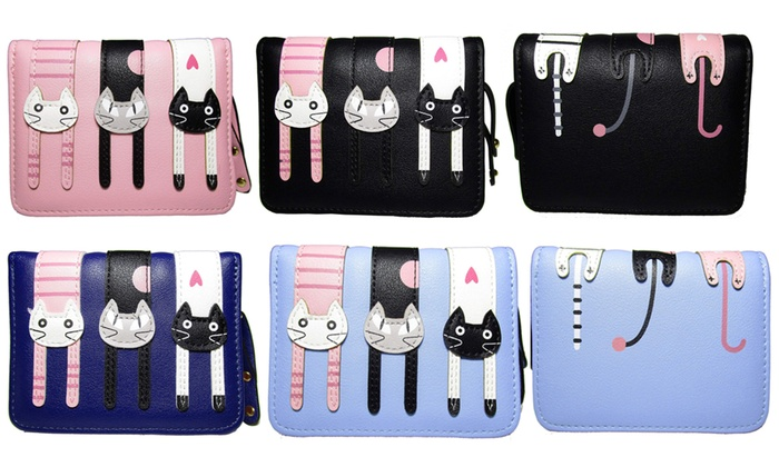 One or Two Women's Cat Wallets from £6.98