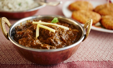 Two-Course Indian Meal: Two ($29) or Four People ($58), Add Glass of Wine for $3 per Person at Chabbi'z Tandoori Kitchen