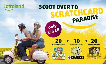 50 Online Scratchcards from Lottoland (65% Off)