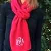 Up to 62% Off Monogrammed Fleece Scarves