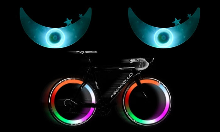 Bike Spoke Wheel LED Flashy Safety Lights (2-Pack)