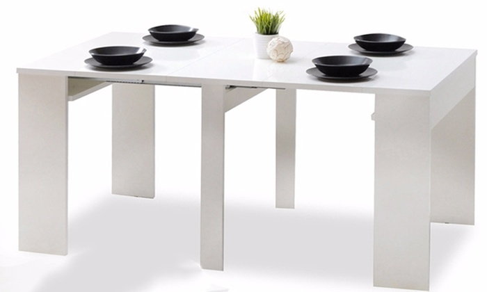Table extensible jusqu 39 270 cm groupon for Table extensible 3m groupon