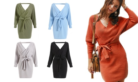 Long-Sleeve V-Neck Dress: One ($24) or Two ($44)