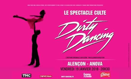 1 place en catégorie 1 ou en carré or pour Dirty Dancing le 19 janvier 2018 à 20h30 dès 34 € à l'Anova Parc des Expo