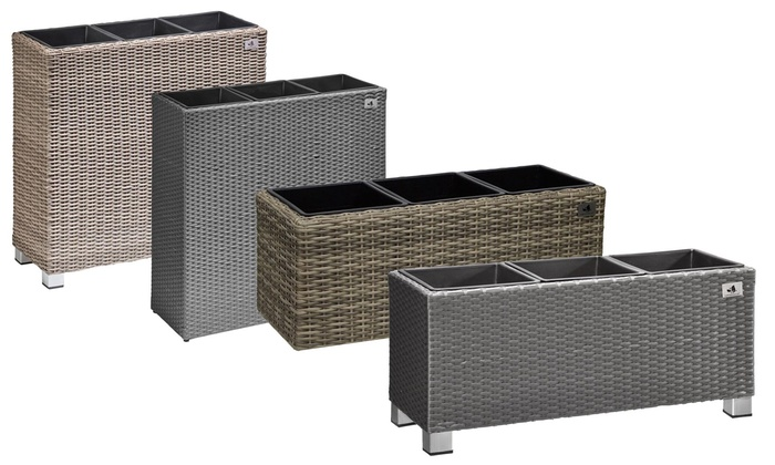 polyrattan pflanzen raumteiler groupon goods. Black Bedroom Furniture Sets. Home Design Ideas