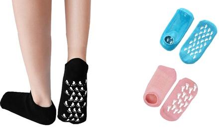 2, 3 o 4 pares de calcetines de gel hidratante para el alivio de los pies secos y agrietados