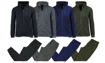 Men's Marled Fleece Hoodie and Joggers Set (2-Piece)