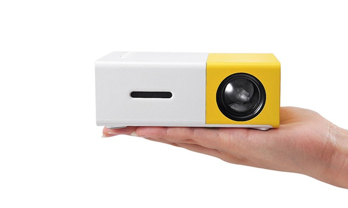 Mini portable led projector groupon goods for Pocket projector deals