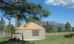 Off Grid Camping and Fun at Flagstaff Nordic Center: Two Nights of Camping in a Cabin or Yurt for Up to Four People at Flagstaff Nordic Center (Up to 47% Off)